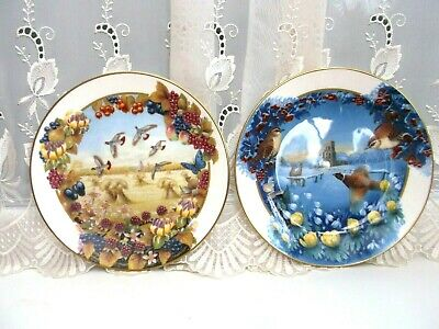 Royal Doulton Collectors Gallery Plates  Seasons  Winter And Autumn • 8£