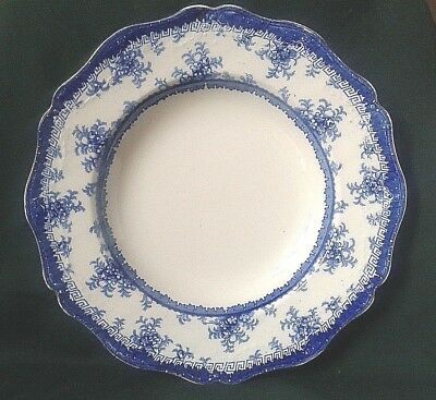 Maddock & Sons Hamilton Soup Plate Royal Vitreous Flow Blue Rimmed Soup Dish • 44£