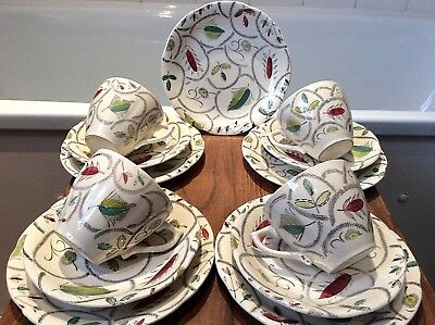 Vintage 1950's Revel By Broadhurst  & Sons Ltd  Pottery Tea Set X 13 Pieces • 27.50£