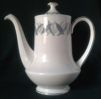 Royal Standard Trend Coffee Pot Fine Bone China Coffee Pot Blue And Green Leaves • 33.95£
