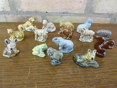 A Nice Set Of 15 Vintage Wade Whimsies Elephant Dog Seal Etc. #2 • 13.49£