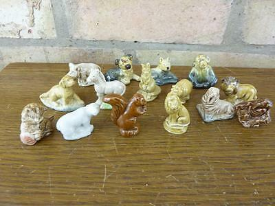 A Nice Set Of 15 Vintage Wade Whimsies Dog Hippo Lion Etc. #7 • 13.49£