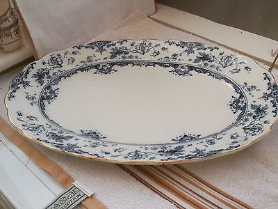 1900 + Large Oval  Platter In Leighton Pattern  Maker  Not Known  • 30.99£
