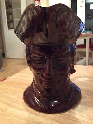 Large Collectable Kernewek Cornwall Character Pirate Toby Jug H16 Cms • 8£