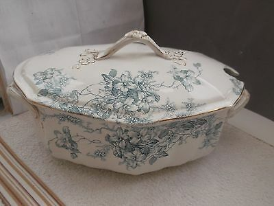 Twin-handled Large Shaped Soup/ Stew Lidded Tureen In Clifford Pattern  No Maker • 50.99£