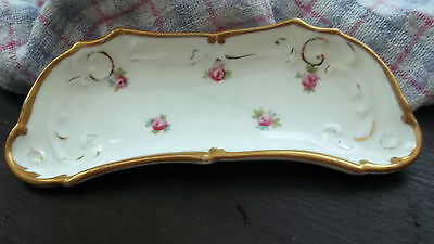 Vintage  Small Shaped Cauldon Dish With A Pink Flower Pattern ?bone Plate • 15.99£