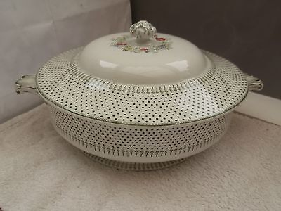 1841 - 1873 Minton And Co Twin - Handled Tureen   Spot And Wreath Pattern • 28.79£
