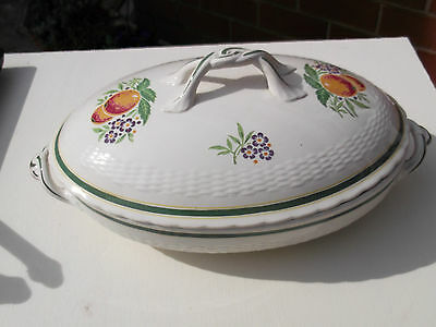 Oval Minton Lidded Tureen With A Fruit And Flower Pattern Possibly 1920 • 35.19£
