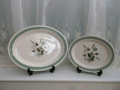 Pair Of Vintage Woods And Sons Meat Platters   Clovelly   • 8£