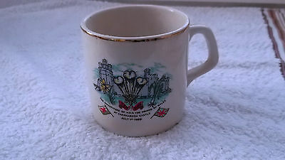 1969 Mug Investiture Of Prince Charles And Endon Well Dressing 125 Anniversary   • 25.99£