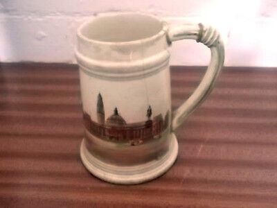 Brentleigh Tankard Crested Cardiff With  A Picture Of Cardiff City Hall • 18.99£