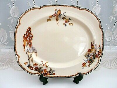 Woods Ivory Ware Rare Serving/meat Platter  *the Gables* • 8£