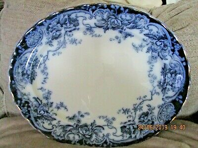 V Large ANTIQUE  CHATSWORTH  Late Mayer PLATTER 17.25 Inch By 14 Inch ,Ivory  • 70£