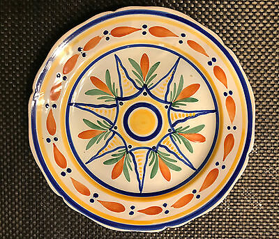 HB QUIMPER VINTAGE FAIENCE GEOMETRIC PATTERNED PLATE Early 20th C Henriot • 75.90£
