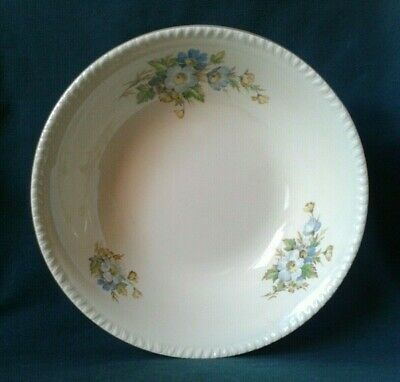 Swinnertons Harvest Serving Bowl Ironstone Serving Dish Blue And Yellow Flowers • 28£