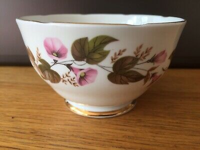 Vintage Floral Fine China Sugar Bowl Edged In Gold  • 4.99£