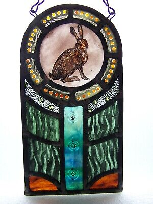 Stained Glass Panel With Hare • 138£