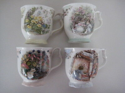 Royal Doulton Brambly Hedge Set 4 Season Mug Spring Summer Autumn Winter • 119.99£