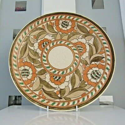 Charlotte Rhead Tudor Rose Charger - 4491 - Stamped And Signed - Excellent Con • 79£