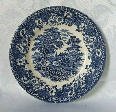 English Ironstone Tableware Kingswood Side Plate Ironstone Sideplate In Blue • 14£