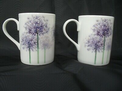 Two Roy Kirkham Allium Mugs In Excellent Condition. • 13£