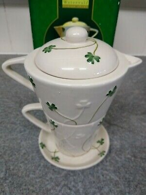 Watervale Parian China Tea For One With Milk Jug • 9£