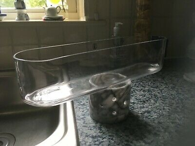 6 No. Glass Display Troughs • 30£