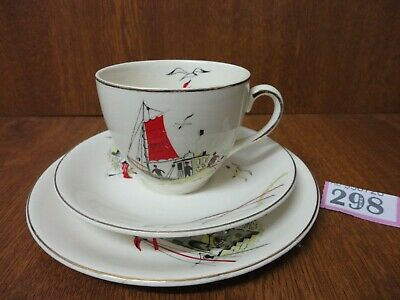 4) Alfred Meakin St Ives Tea Trio - Cup & Saucer With Side Plate • 29.95£