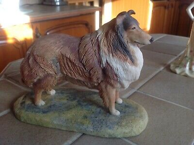 Rare Border Fine Arts A.Walls 1981 Rough Collie Dog Figurine • 100£