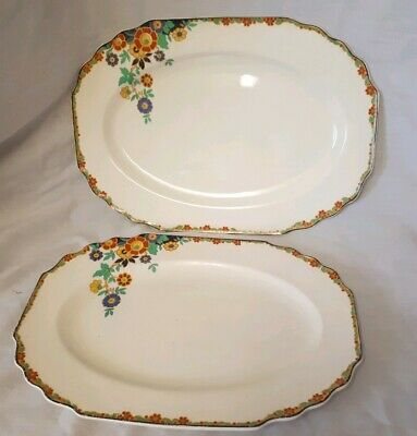 Two Vintage Myott Son & Co Platter Serving Dishes Plates • 35£