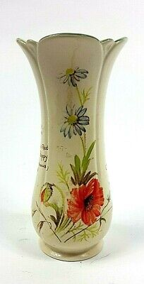 Vintage Royal Winton Country Diary Collection Ceramic Poppy Vase 1970s  • 14£