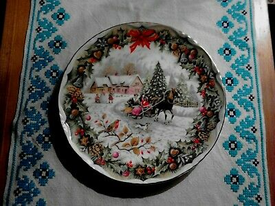 Royal Albert Collectors Plate  Christmas Sleighride  Artwork By F.F. Errill. • 10£