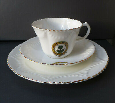Antique City Of Wells Crested Trio - Cup, Saucer, Plate - Arcadian/Charles Ford • 19.99£