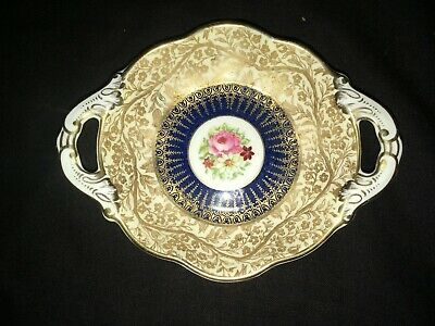 George Jones & Sons Crescent Blue And Gold Dish Bone China • 19.95£