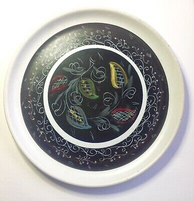 Glynn Colledge Denby Large Plate 10 Inches. Unusual, Black Signed. • 14.99£