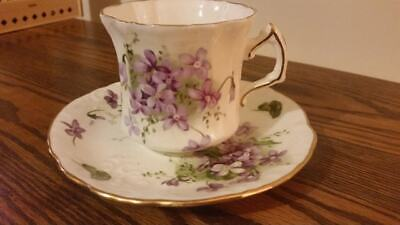 Spode Hammersley Victorian Violets Tea Cup And Saucer • 10.99£