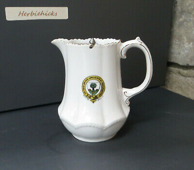 Antique City Of Wells Crested Small Creamer / Milk Jug With Cover - Arcadian  • 24.99£