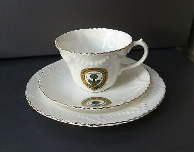 Small Antique City Of Wells Crested Trio - Cup, Saucer, Plate - Arcadian / Ford • 16.99£