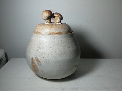 Fabulous Studio Art Pottery Container With Snail And Mushroom Lid. • 15£