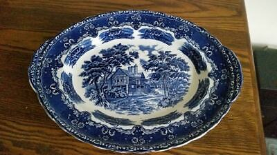 Grindley English Country Inns Large Oval Blue And White Platter • 11.99£