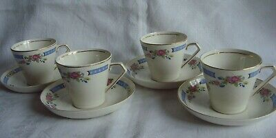 Lord Nelson Ware Tsing Pattern. 4 X Coffee Cups & Saucers • 10£