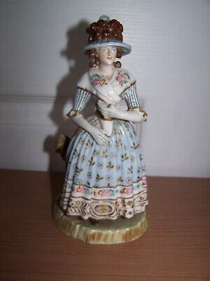 Vintage Highly Decorative Spanish Figurine Of Lady Hand Painted Porcelain Spain • 9.99£