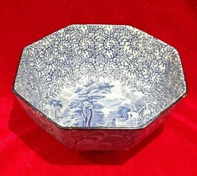 James Kent Fenton Ye Olde Foley Ware Blue And White Patterned Bowl C. 1910-1915 • 19.99£