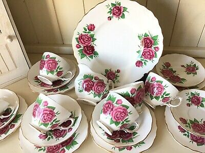 Lovely Vintage Royal Vale Afternoon Tea Set With Cake Plate • 35£