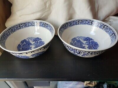 Old England Blue And White Serving Bowls • 14.99£