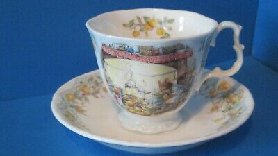 VERY  RARE  Teacup And Saucer CRABAPPLE COTTAGE  • 110£