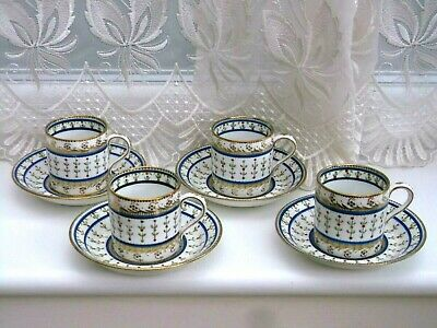 Antique Paragon Star Coffee Cans And Saucers X 4 Circa 1912-1933 • 10£