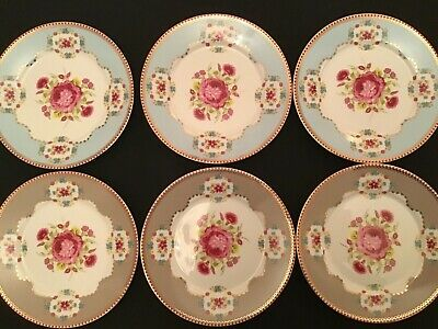 "Pip Studio 6 X Salad Plate 7"" Chinese Rose Porcelain Excellent Condition • 40£"