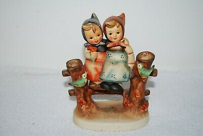 Vintage Collectable Rare Goebel Hummell  Coquettes  2 Girls On A Fence No 179  • 18£