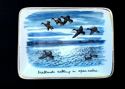 Midwinter Stylecraft Peter Scott 1950's Pin Dish Mallards Settling In Open Water • 6£